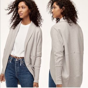 Wilfred Diderot Open Front cardigan- Heather grey